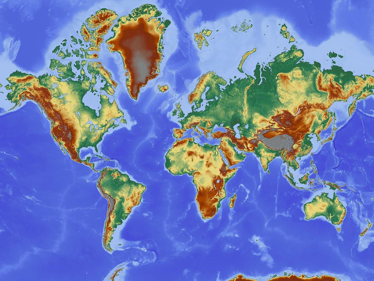 Olika Typer Av Kartor Lektion I Geografi Ak 4 5 6