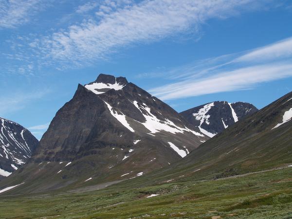 ett högt berg